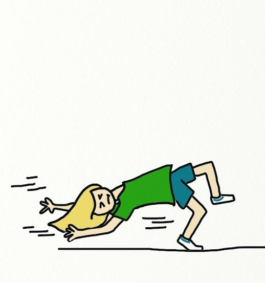 The wrong way to run.